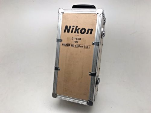 Nikon CT500 aluminium transport case for Nikkor 500mm f4 lens or other long tele